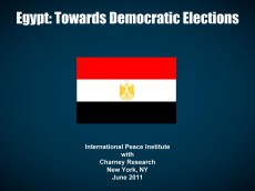 Egypt Towards Democratic Elections-Cover