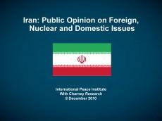 Iran Public Opion Poll Cover